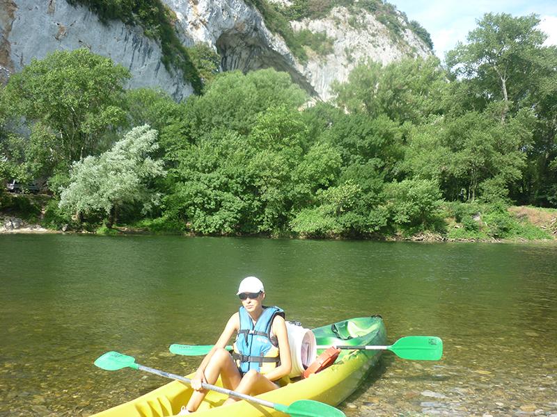Canoe dans l'Ardeche