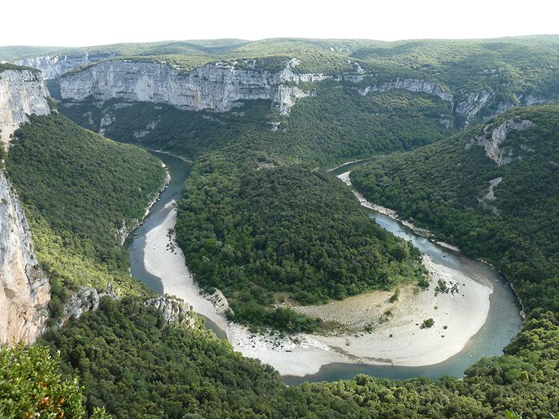 Les Gorges de l'Ardèche vues de haut